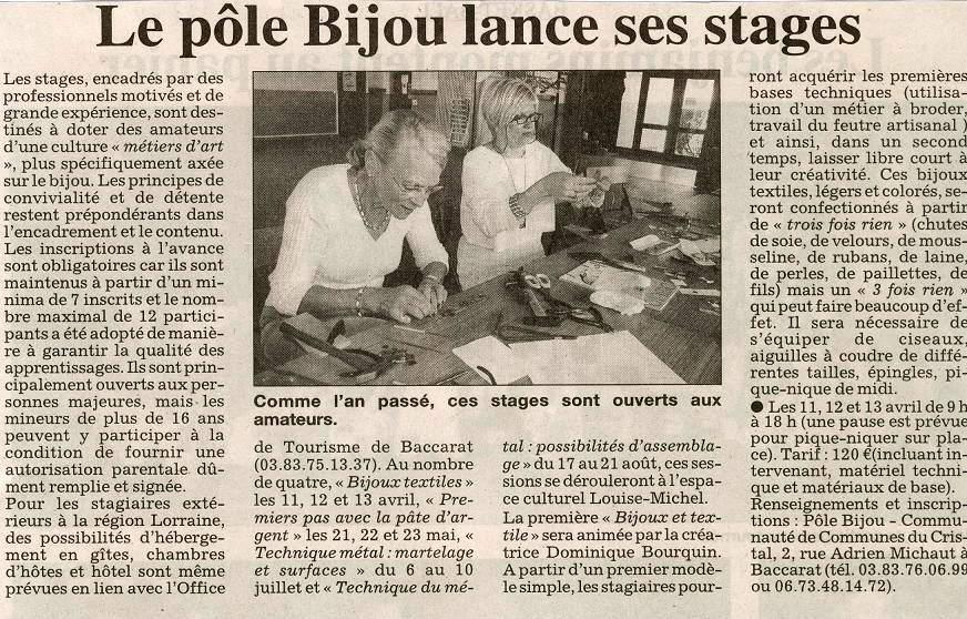 presse mars 2009 Est Republicain