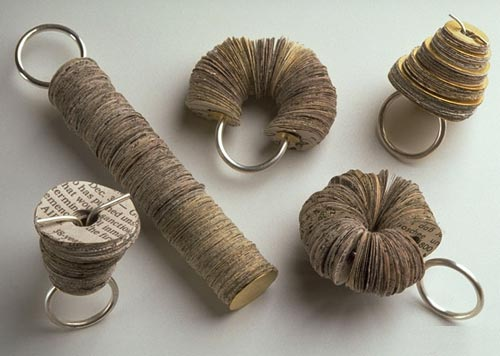 paper rings by kiwon wang (born in south korea, lives and works in new york, usa)