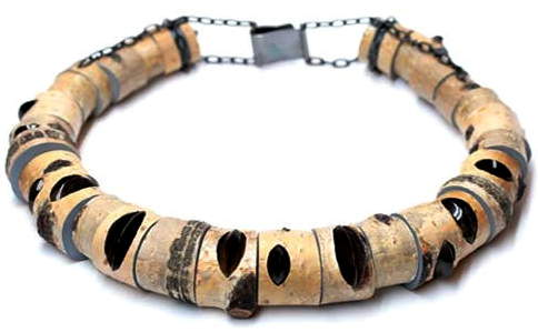 wooden bracelet by terhi tolvanen (born in finland, lives and works in amsterdam, netherlands)
