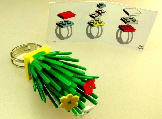 CERAQUOI - bagues kit en lego - bague 'avoir les pouces verts' - galerie CARACTERE