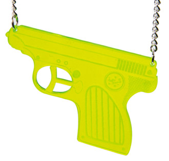 TATTY DEVINE (Harriet Vine & Rosie Wolfenden, UK) water pistol necklace