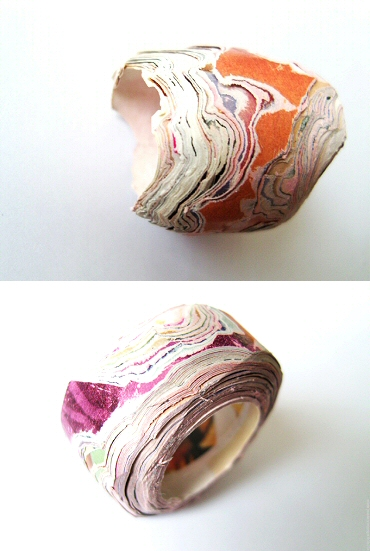 rings - recycled paper rings by MIETTE