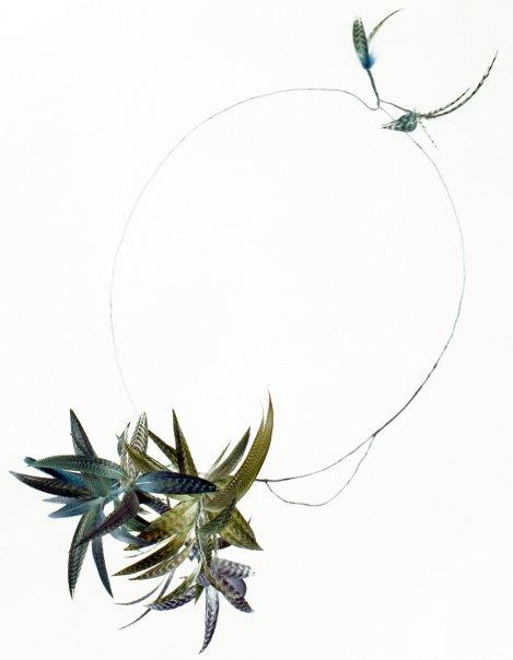 Cécile BOCCARA - collier plumes