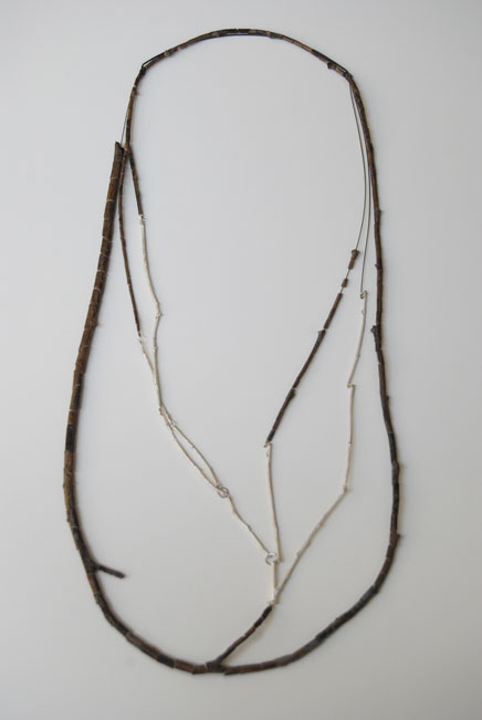 djurdjica KESIC- Malmsbury - Necklace 2 - willow tree branch, silver
