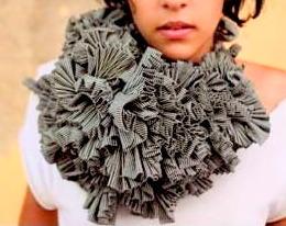 kapow wow textile neckpiece