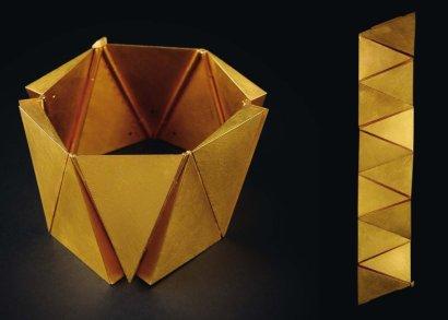 Giampaolo BABETTO- Série limitée Bracelet 'Triangles' 1983 Or jaune