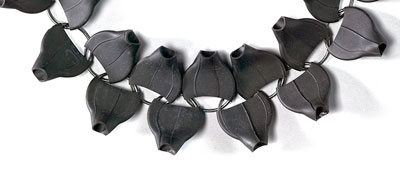 Nikolay Sardamov- Blackened silver, rubber necklace