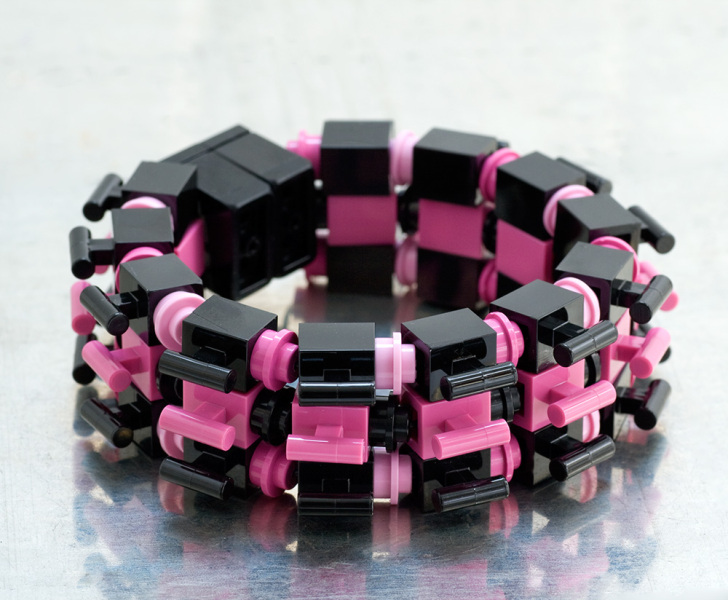 Emiko OYE- eclipse_pink_ Limited Edition bracelet made from repurosed LEGO