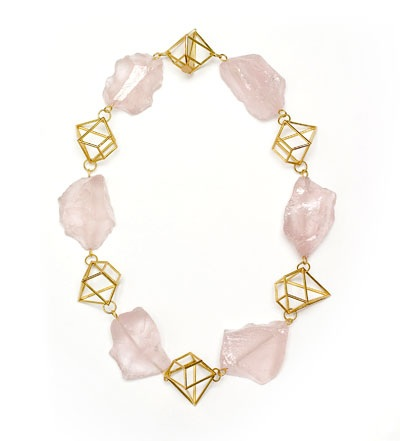 Philip SAJET- 'Precious and stone' 2008 - gold, rose quartz