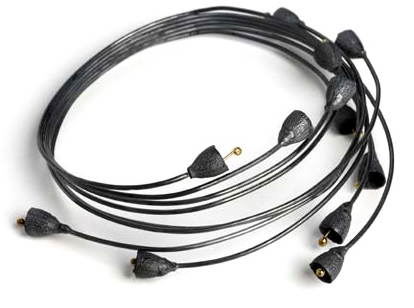 Shimara Carlow - oxidised bell gum nut wrap bangle