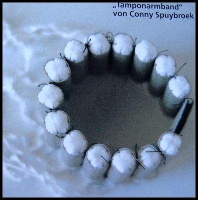 tampony - Conny Spuybroek- bracelet - Schmuck magazine (1997).