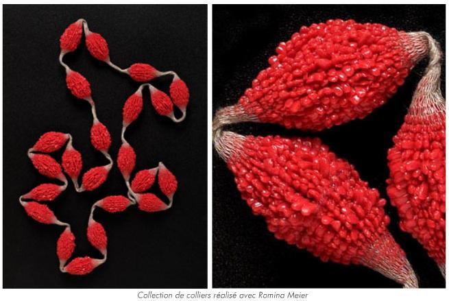 TZURI GUETA - necklace - rouge