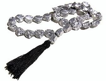 Vered Kaminski - neckpiece - aluminium, cord tassel