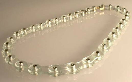 blancheTILDEN- GlassBikeChain - glass, 750 gold or 925 silver
