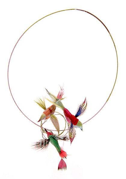EXPO cecile Boccara- collier colibris
