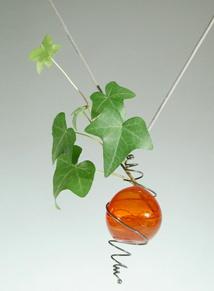 Stefano POLETTI - pendentif 'botanicus' 1988 -laiton, verre de Murano