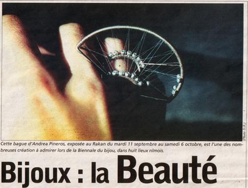 Andrea Pineros- gazette nimes 2001