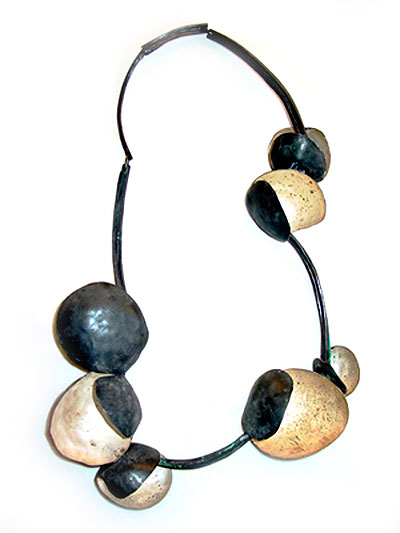 Daniela Boieri necklace 'chiacchiere' silver oxidized