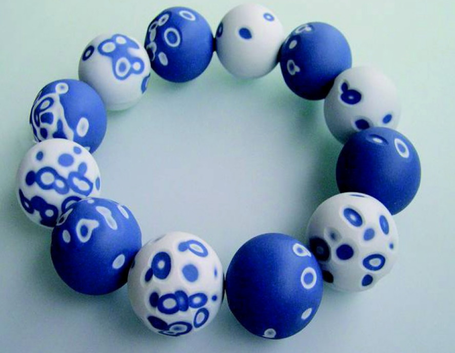 Shu-Lin WU (Taiwan) - collier 'mokume' porcelaine