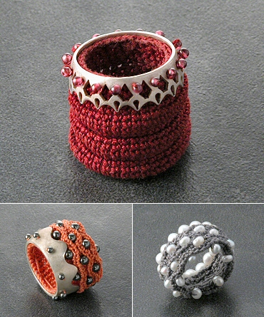 Catherine Maymo - crocheted rings