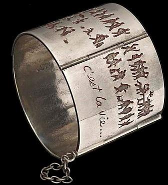 Line Vautrin - bracelet 'c'est la vie' - bronze