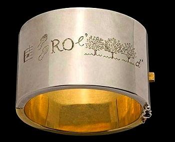 Line Vautrin - bracelet rébus 'la parole est d'argent et le silence est d'or'